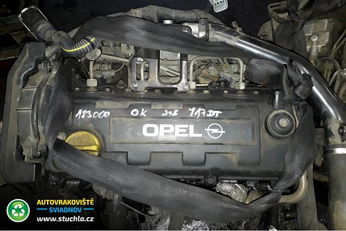 Autovrakoviste Sviadnov Motor Y17DT 1.7DTI 55kw
